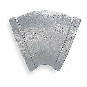 "Galvanized Malleable Iron Elbow, 45°, 3"" Pipe Size, FNPT Connection Type"