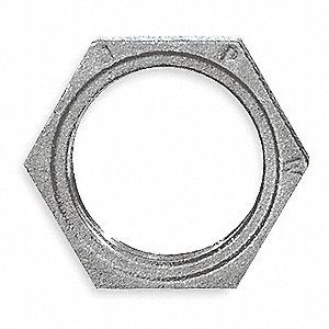 "Galvanized Malleable Iron Hex Locknut, 2-1/2"" Pipe Size, FNPT Connection Type"