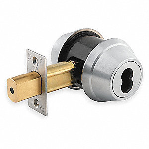 Heavy-Duty Satin Chrome QDB2-Series Deadbolt Less Cylinder, Double SFIC - Not Included-Cylinder
