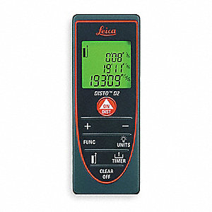 "Laser Distance Meter, ±3/64"" Accuracy, Up to 200 ft. Range"