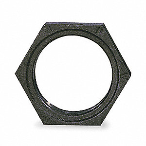HEX LOCKNUT,2-1/2 IN,NPT,BLACK IRON