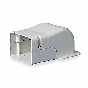 "White Wall Penetration Cover, 7-1/2"" Length, 1/2"" Width, 4-1/4"" Height"