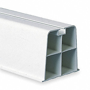 "White Mount Block, 13-3/4"" Length, 1/4"" Width, 10"" Height"