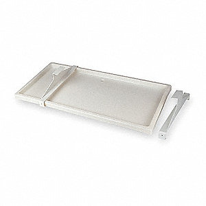 "White Condensate Drain Pan, 16-1/2"" Length, 3/4"" Width, 3-1/4"" Height"