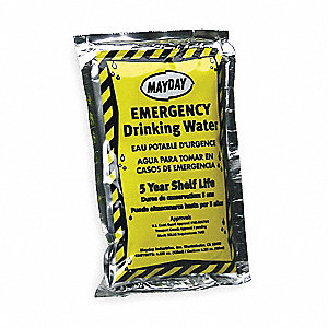 Emergency Drinking Water Pouch,PK64