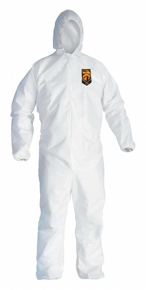 Hooded Disposable Coveralls,  Hooded,  Size 2XL,  PK 25