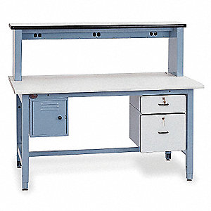 "Bolted Workbench, ESD Laminate, 36"" Depth, 30"" to 36"" Height, 72"" Width, 5000 lb. Load Capacity"