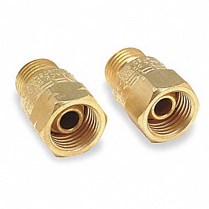 Welding Torch Check Valve Set,Brass,2 PC