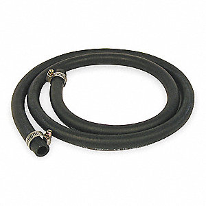 6 ft. Black Reinforced Dishwasher Hose