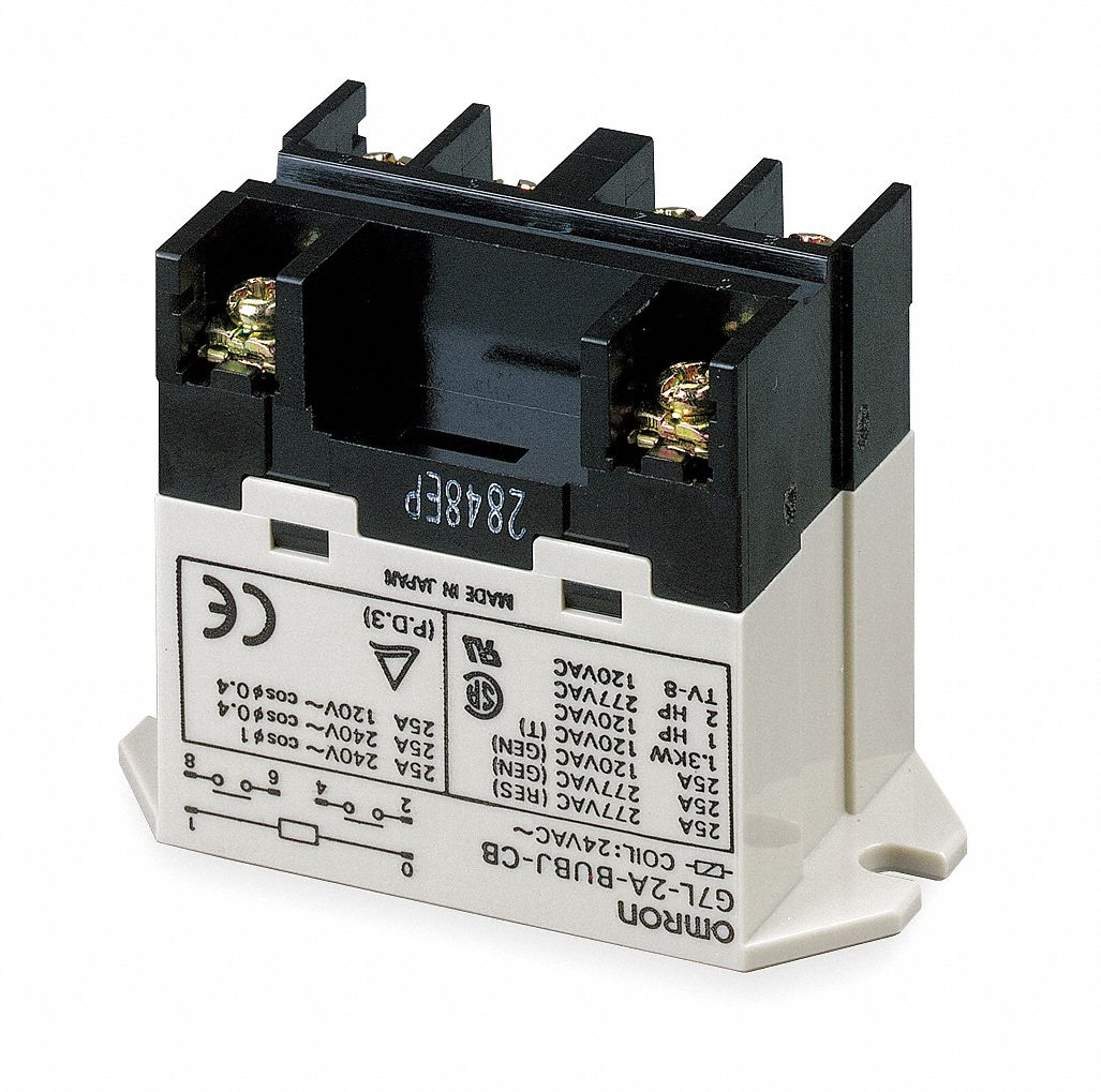Power Relays Tools For Shop Relay With No And Nc Contacts Omron Enclosed 10 Pins 200 240vac Coil Volts 25a 220vac 8a Contact Am Model G7j 3a1b B W