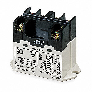 Enclosed Power Relay,6 Pin,24VAC,DPST-NO