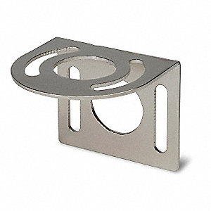 Nickel-Plated Short Right Angle Mounting Bracket