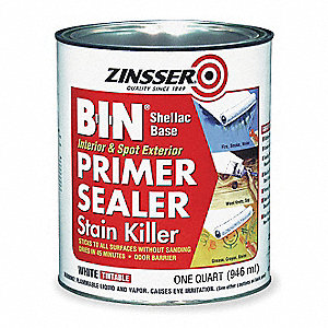 Interior and Spot Exterior Use Primer/Sealer Stain Killer with 100 sq. ft./gal. Coverage, Flat White