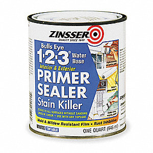 1 qt. Interior/Exterior Stain Blocking Primer/Sealer Covers 100 sq. ft./gal., White