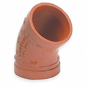 "2-1/2"" Nominal Size Ductile Iron Elbow, 45°"
