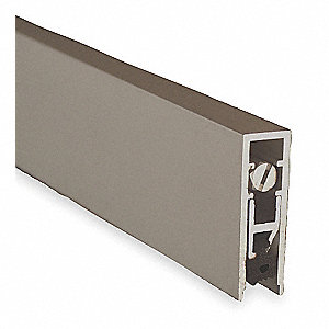 Automatic Door Bottom,3/8x36 In,Aluminum