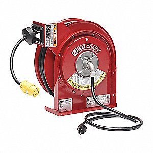 Reelcraft Extension Cord Reel Spring Retraction 120v Ac Single Connector 50 Ft Red Reel Color 2xhz8 L 4050 163 3 Grainger