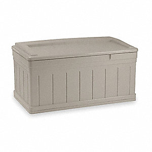 Extended Deck Box,H27 1/2,w/Lid and Seat