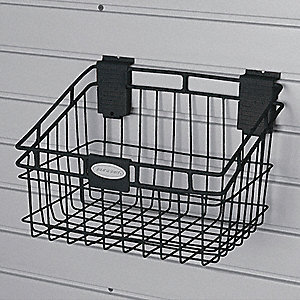 Wire Storage Basket, Black