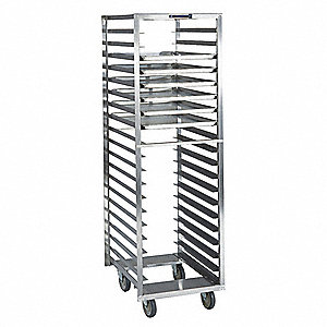 Pan & Tray Rack, Open, Stainless, 26x21x67