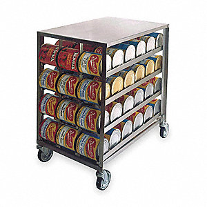 Mobile Can Dispenser and Storage Rack