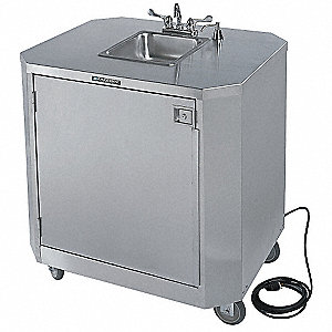 Hand Washing Cart,Stainless,39x33x45