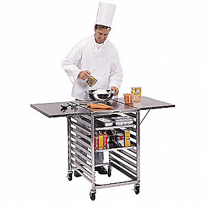 Work Table Cart,Stainless,53x29x35