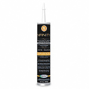 White Elastomeric Acrylic Sealant, 10.1 oz. Cartridge