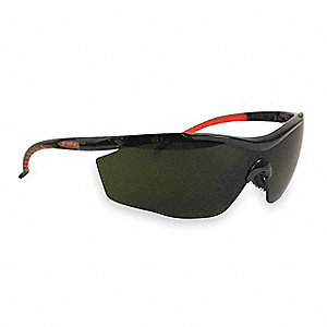FMX-EP1 Uncoated Safety Glasses, Shade 5.0 Lens Color