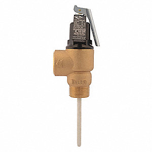 "6""H Temperature and Pressure Relief Valve, 2,155,000 BtuH, 150 psi, 3-1/16"" Thermostat Length"