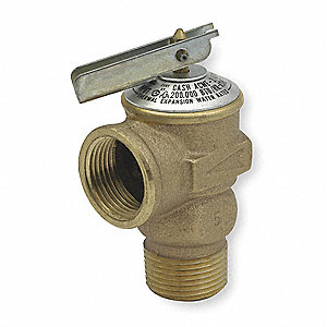 Bronze Pressure Only Relief Valve, MNPT Inlet Type, FNPT Outlet Type