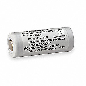 Battery,Nickel Cadmium,1.2V,1A/HR.