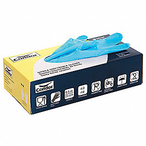 Condor Nitrile Disposable Gloves, Powder Free, 4 mil