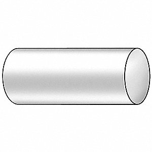 "Rod,Poly,Clear,1-1/2"" Dia x 6 ft. L"
