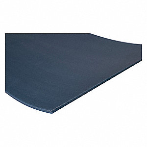 "Sheet Stock, UHMW, 48""L x 12""W x  0.250"" Thick, 180 Max. Temp. (F), Blue"