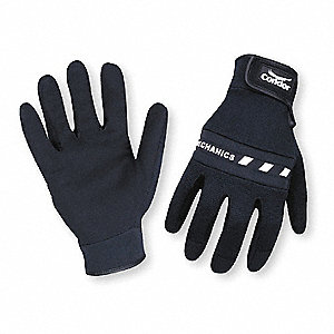 Box Handling Mechanics Gloves, Clarino Palm Material, Black, L, PR 1