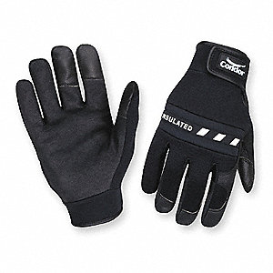 Anti-Vibration Gloves, Spandex Palm Material, Black, 1 PR