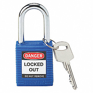"Lockout Padlock,KD,Blue,1-3/4""H"
