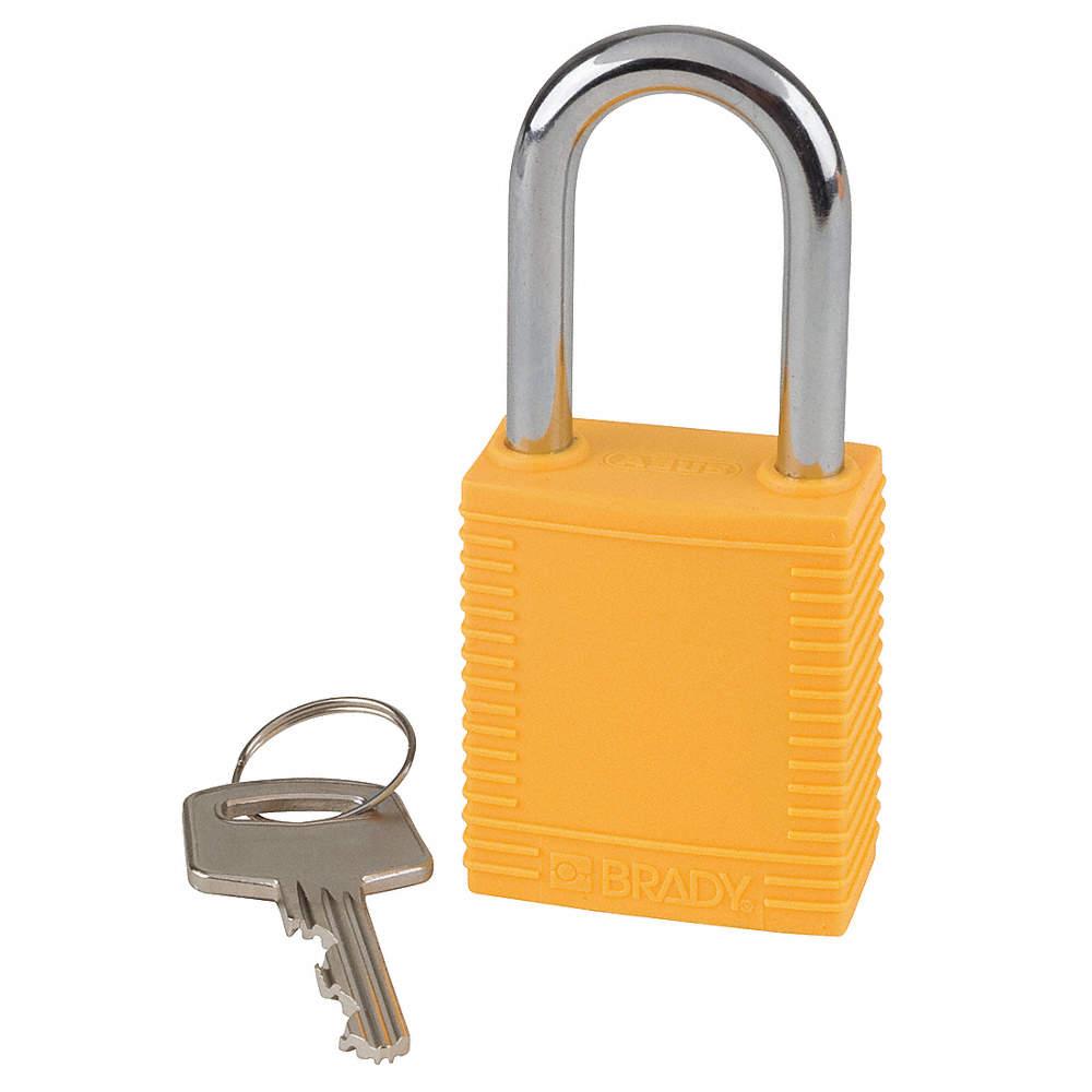 Dia. Yellow 1//4 in Lockout Padlock KD