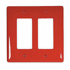 WALL PLATE,2 GANGS,RED