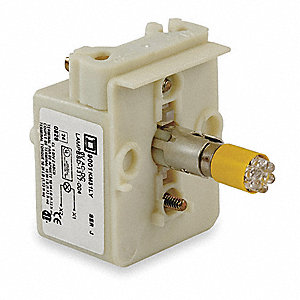Lamp Module,30mm,208-220V,Yellow,LED