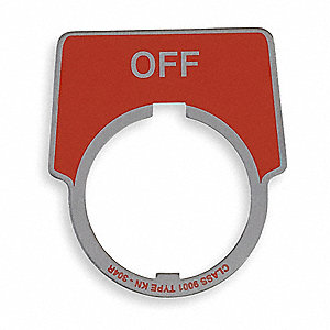 Legend Plate,Half Round,Off,Black