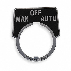 Legend Plate,Man./Off/Auto,White/Black