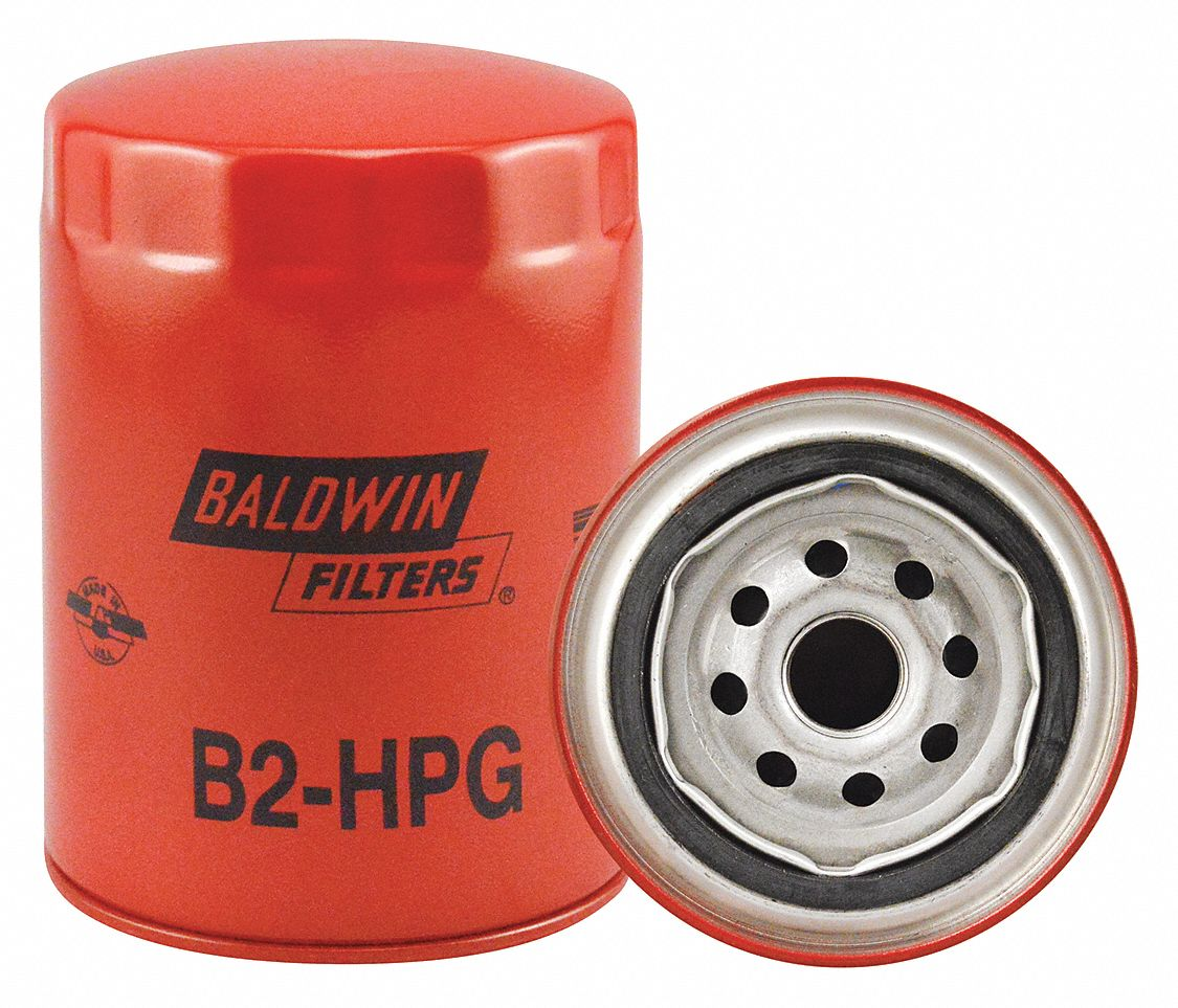 Spin-On Oil Filter, Length: 5 13/32 in, Outside Dia.: 3 11/16 in, Micron Rating: 9.8