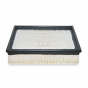 "Air Filter, Panel, 1-17/32"" Height, 10-3/16"" Length"