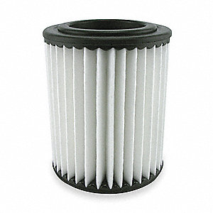 "Air Filter, Element Only, Round, 2-3/32"" Height, 2-3/32"" Length, 3-15/16"" Outside Dia."