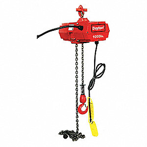 H3 Electric Chain Hoist 1000 Lb Load Capacity 115v 15 Ft Hoist Lift 16 Fpm