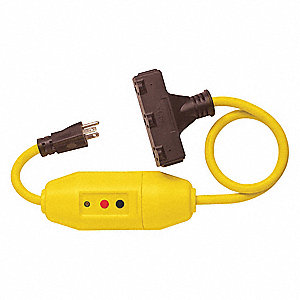 LINE CORD GFCI,2 FT.,YLW,15A,5-15P,120V