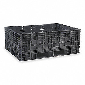 Collapsible Container,64 In L,48 In W,Bl