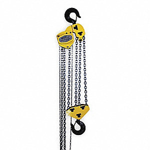 "Manual Chain Hoist, 20,000 lb. Load Capacity, 20 ft. Lift, 2"" Hook Opening"